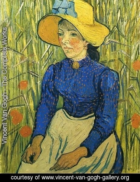 Vincent Van Gogh - Peasant Girl with Yellow Straw Hat