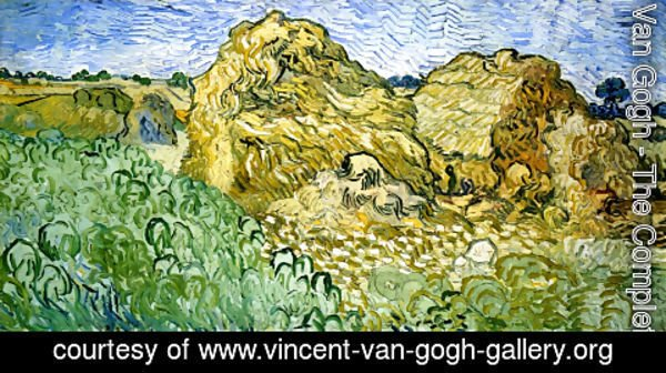 Vincent Van Gogh - Field with Stacks of Wheat 2