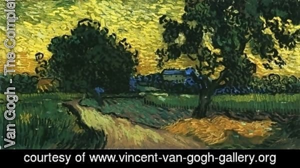 Vincent Van Gogh - Field with Trees, the Chateau of Auvers