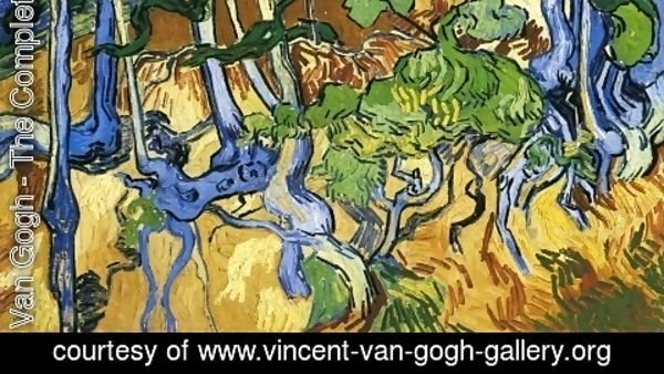 Vincent Van Gogh - Roots and Tree Trunks