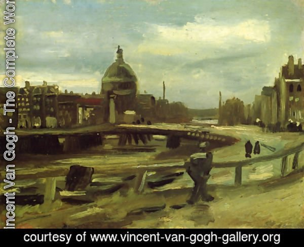 Vincent Van Gogh - View on the Singel in Amsterdam