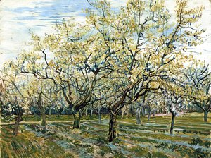 Vincent Van Gogh - Orchard with Blossoming Plum Trees