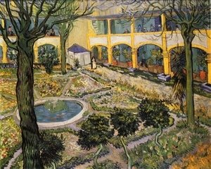 Vincent Van Gogh - Courtyard of the Hospital in Arles