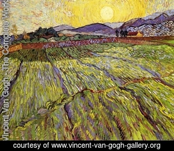 Vincent Van Gogh - Wheat Field with Rising Sun