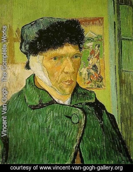Vincent Van Gogh - Self-Portrait with Bandaged Head