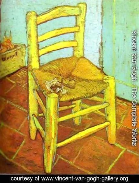 Vincent Van Gogh - Vincent's Chair with Pipe