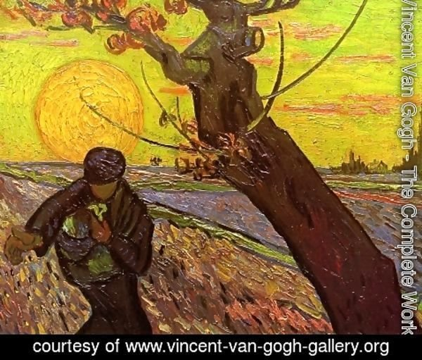 Vincent Van Gogh - Sower with Setting Sun