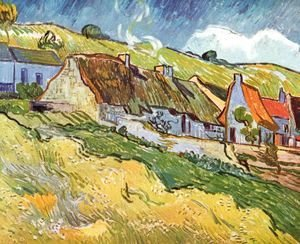 Vincent Van Gogh - Thatched Cottages