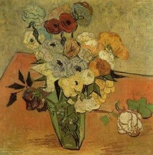 Vincent Van Gogh - Vase with Roses and Anemones
