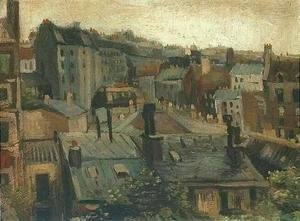 Vincent Van Gogh - View of the Roofs of Paris 1