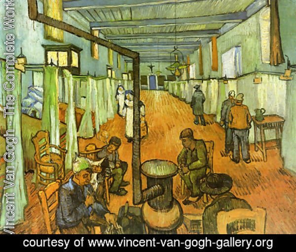 Vincent Van Gogh - ward in the hospital in arles 1889