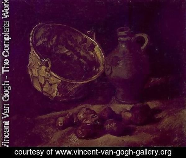Vincent Van Gogh - with Copper Kettle, Jar and Potatoes