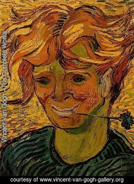 Vincent Van Gogh - Young Man with a Corflower