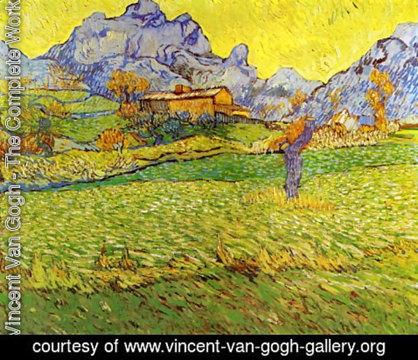 Vincent Van Gogh - A Meadow in the Mountains