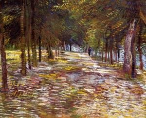 Avenue in the Voyer-d'Argenson Park at Asnieres