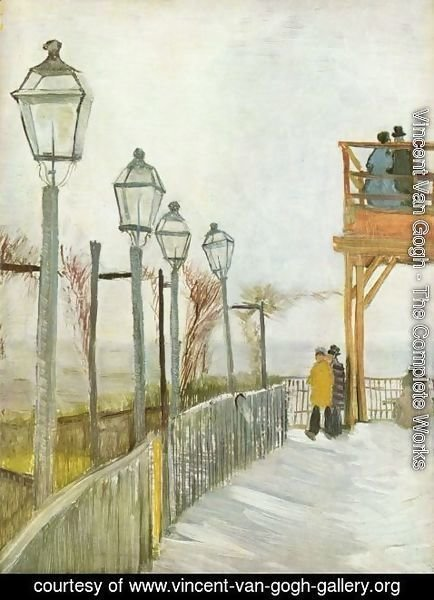Vincent Van Gogh - Lamps in the street
