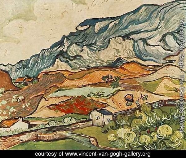"Remy 20/""x26/"" Art on Canvas near St Vincent Van Gogh- Les Alpilles"