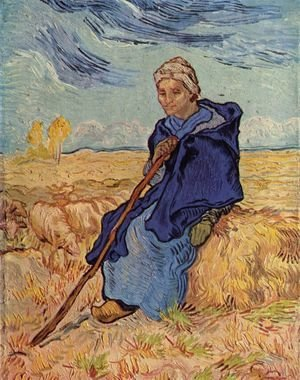 Vincent Van Gogh - old woman sitting