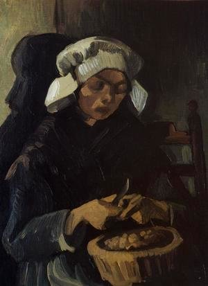 Peasant Woman Peeling Potatoes, Neunen