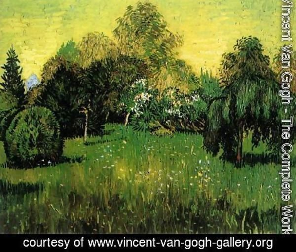 Vincent Van Gogh - Public Park with Weeping Willow