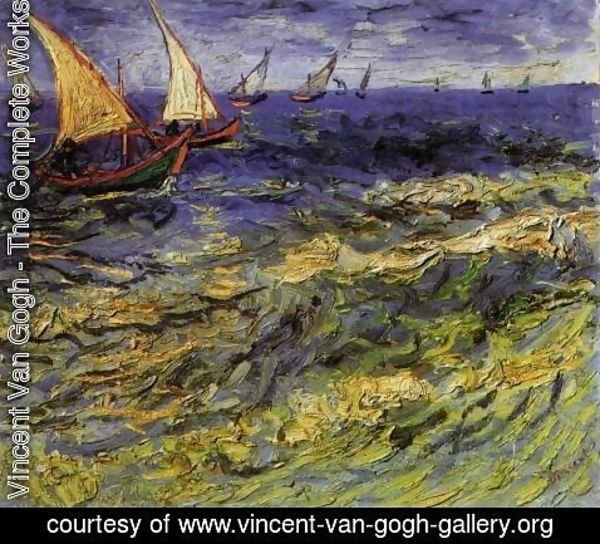 Vincent Van Gogh - Seascape at Saintes-Maries 2