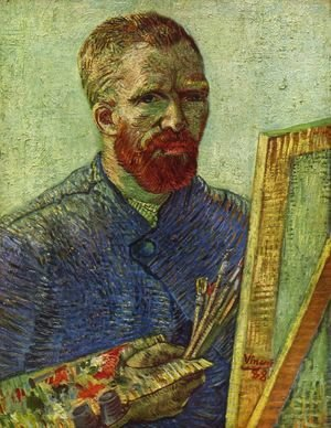 Vincent Van Gogh - Self Portrait while painting