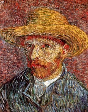 Vincent Van Gogh - Self Portrait with Straw Hat 3