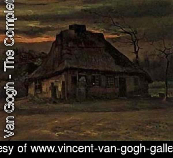 Vincent Van Gogh - Cottage At Nightfall 1885