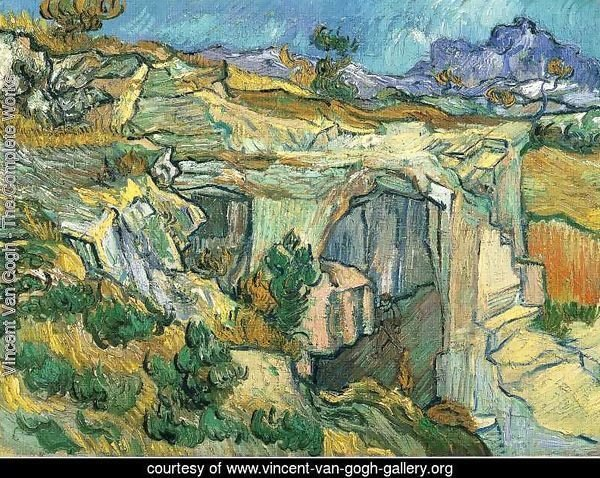 Entrance To A Quarry Near Saint Remy 1889