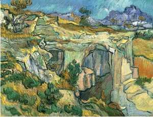 Vincent Van Gogh - Entrance To A Quarry Near Saint Remy 1889