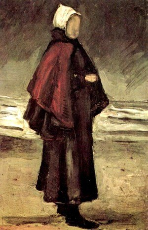 Vincent Van Gogh - Fishmans Wife On The Beach 1882