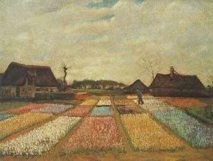 Vincent Van Gogh - Flower Beds In Holland 1889