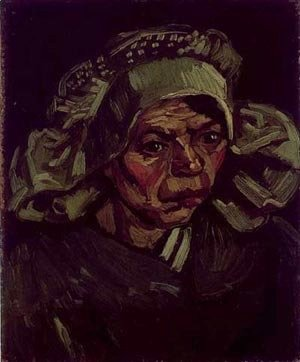 Head Of A Peasant Woman With A White Cap 1885