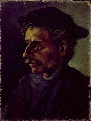 Vincent Van Gogh - Head Of Peasant With Hat 1885