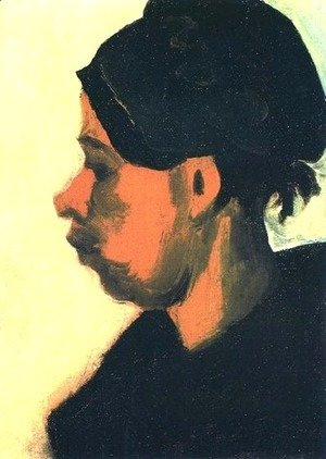 Head Of Peasant Woman With Dark Cap 1885