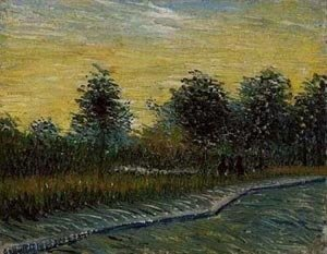 Vincent Van Gogh - Lane In Voyer Dargenson Park At Asnieres 1 1887