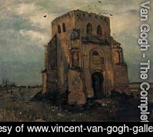 Vincent Van Gogh - Old Cemetery Tower At Nuenen 1885