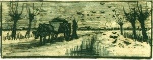 Vincent Van Gogh - Ox Cart In The Snow