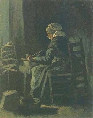 Vincent Van Gogh - Peasant Woman At The Spinning Wheel 1885