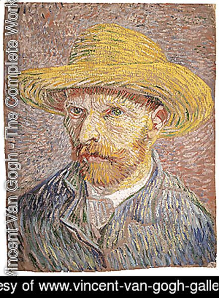 Self portrait with a Straw Hat (verso The Potato Peeler) probably 1887