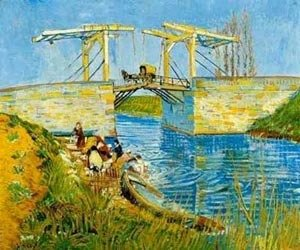 Vincent Van Gogh - The Langlois Bridge With Women Washing 1888