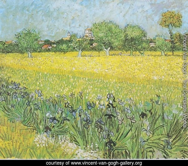 View Of Arles With Iris 1889