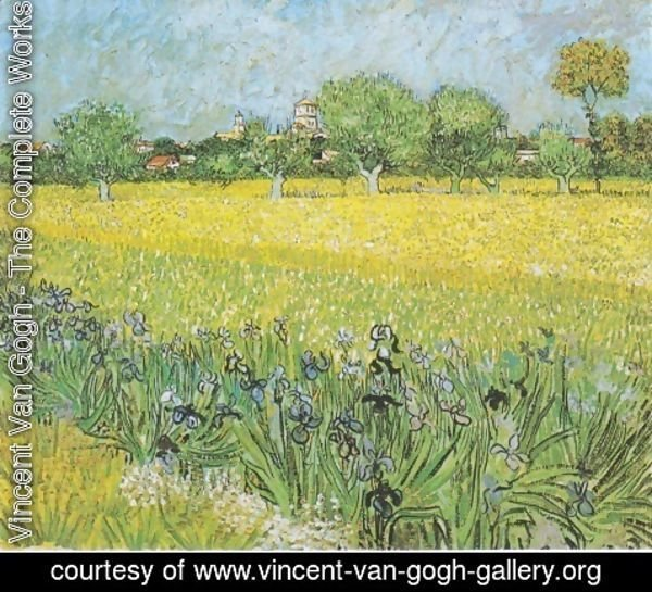 Vincent Van Gogh - View Of Arles With Iris 1889