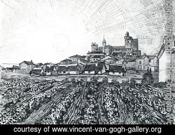 Vincent Van Gogh - View Of Saintes Maries With Church And Ramparts 1888