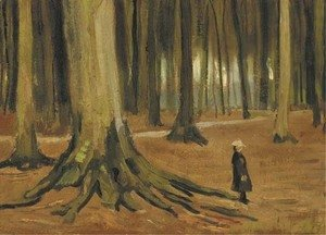 Vincent Van Gogh - A Girl in a Wood