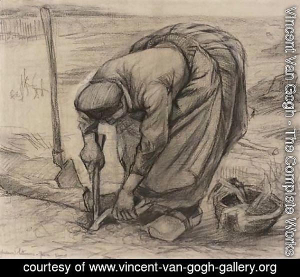 Vincent Van Gogh - Planteuse des betteraves