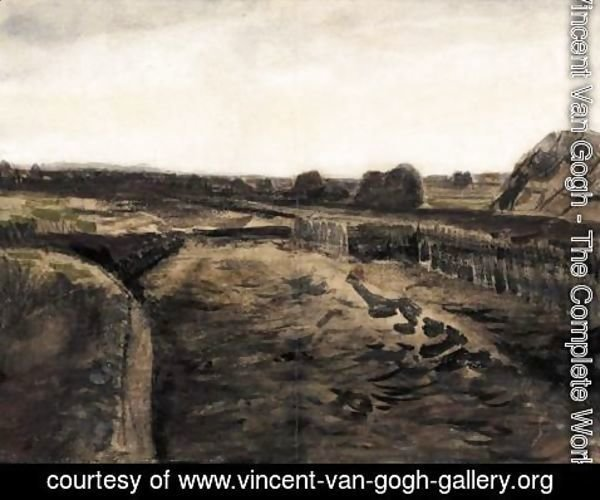 Vincent Van Gogh - Peatery In Drenthe