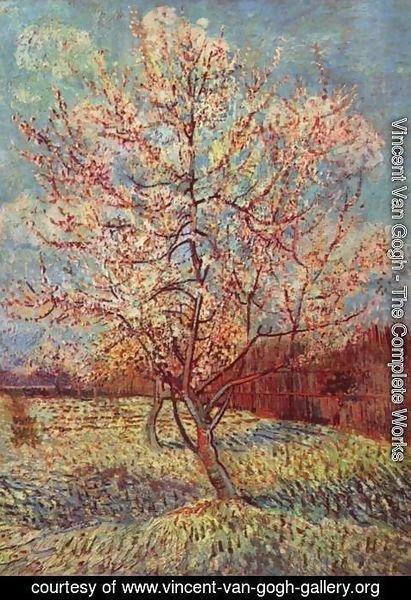 Vincent Van Gogh - Blossoming peach tree 2