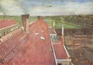 Vincent Van Gogh - Roofs, view from the window of van Gogh's studio