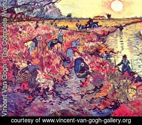 Vincent Van Gogh - The red wine gardens